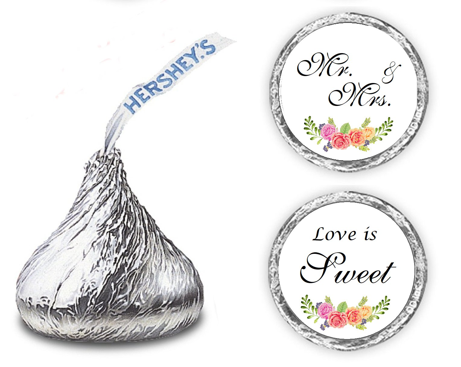 Amazon.com: 324 Floral Roses He Asked She Said Yes!, Hershey Kiss ...