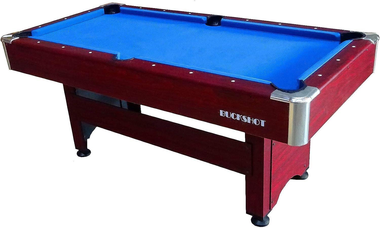 Buckshot Winner - Mesa de billar con accesorios (183 x 90 x 79 cm), color marrón: Amazon.es: Deportes y aire libre