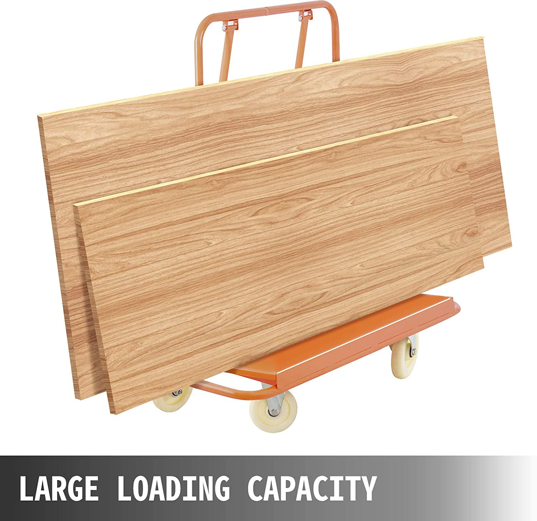 3000LBS VEVOR Drywall Cart Plasterboard 3000LBS Load Capacity Drywall Cart Dolly Handling Sheetrock Sheet Panel Service Cart Heavy Duty Drywall Plasterboard Casters