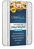 """Stainless Steel Cooling Rack fits Quarter Sheet Baking Pan, Oven Safe Rust-Resistant, Heavy Duty (8.5"""" x 12"""")"""