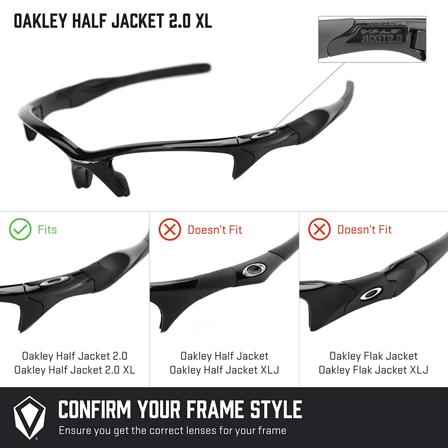 Oakley Half Jacket 2 0 Xl >> Revant Replacement Lenses For Oakley Half Jacket 2 0 Xl