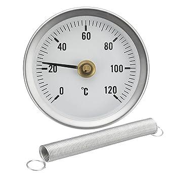 Dynamic 63 Mm 0 120 C Clip Dial Thermometer Temperatur Temp Messgerät Mit Feder Gewerbe Industrie Wissenschaft