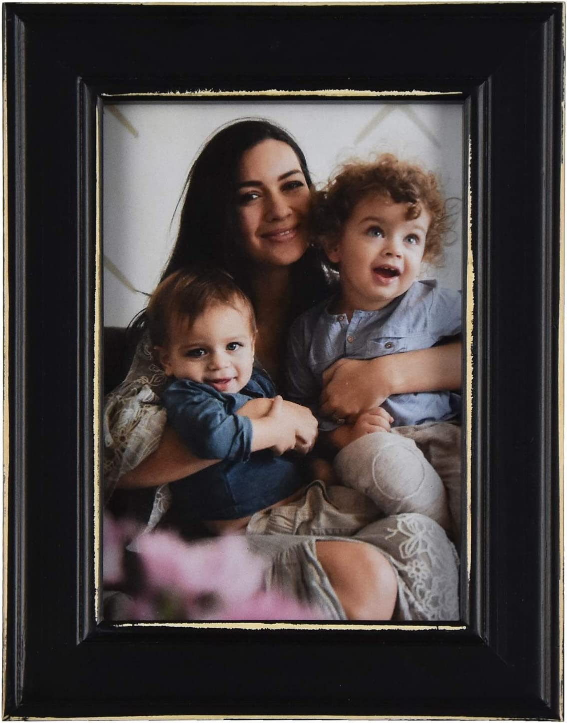 Fetco Home Dcor Longwood Rustic Black 5x7 Picture Frame,