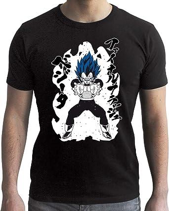ABYstyle - Dragon Ball Super - Camiseta - Vegeta Royal Blue - Negro - Hombre: Amazon.es: Ropa y accesorios
