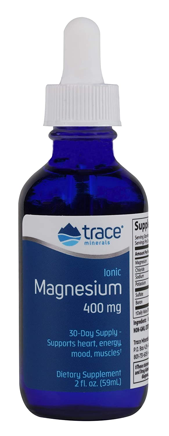 Amazon.com: Trace Minerals Liquid Ionic Magnesium, 400 mg, 4 Ounce: Health & Personal Care
