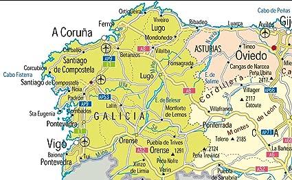 España mapa político – Papel laminado – tamaño A0 – 84,1 x 118.9 ...