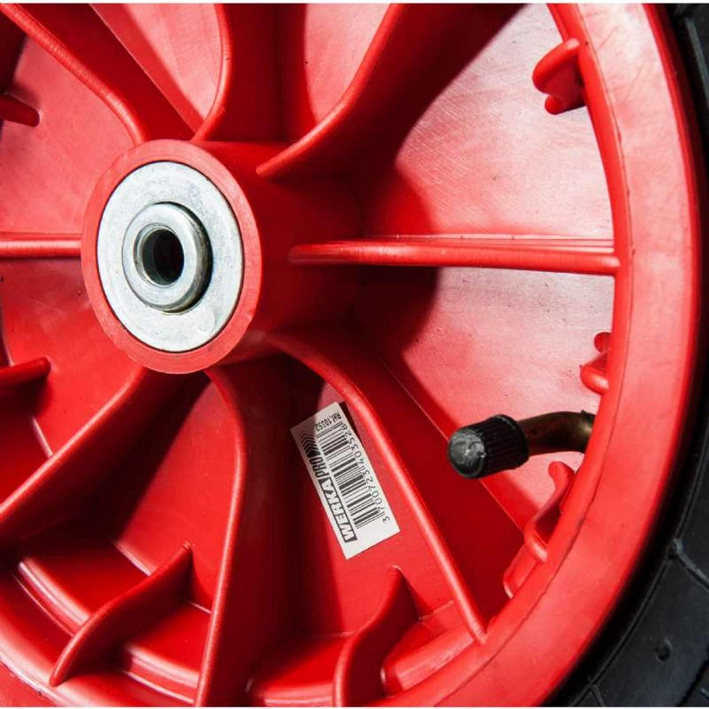 Id/éal pour diable chariot .. Al/ésage 25 mm Roue gonflable 10 Moyeu 74 mm WerkaPro 10343