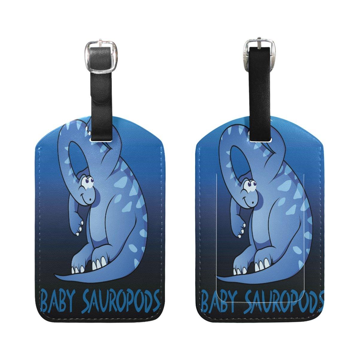 1Pcs Saobao Travel Luggage Tag Dinosaur Baby Sauropods PU Leather Baggage Suitcase Travel ID Bag Tag