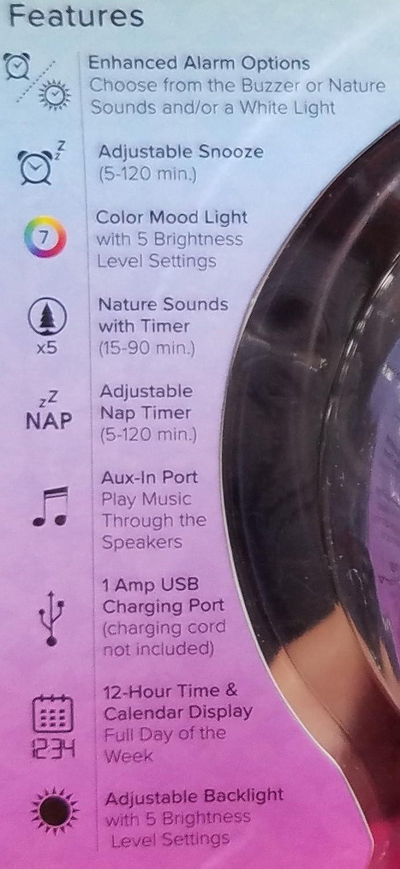 Mood lights amp mood lighting - Amazon Com La Crosse Technology Mood Light Alarm Clock With Nature Sounds Home Audio Theater
