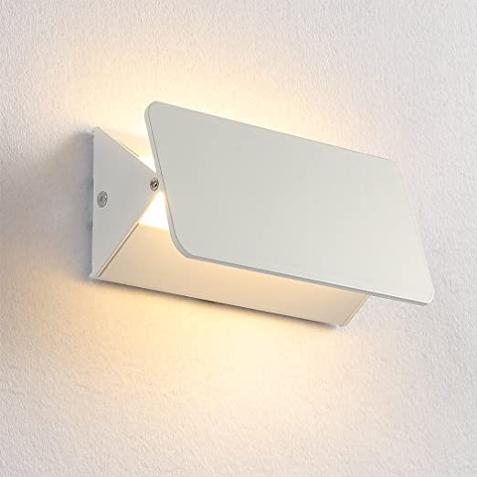 Maxmer LED Apliques de Pared Lámpara 6W Luz de Pared Interior Moderno 180 ° Ajustable para Dormitorio Escalera Corredor Blanco Cálido: Amazon.es: Iluminación