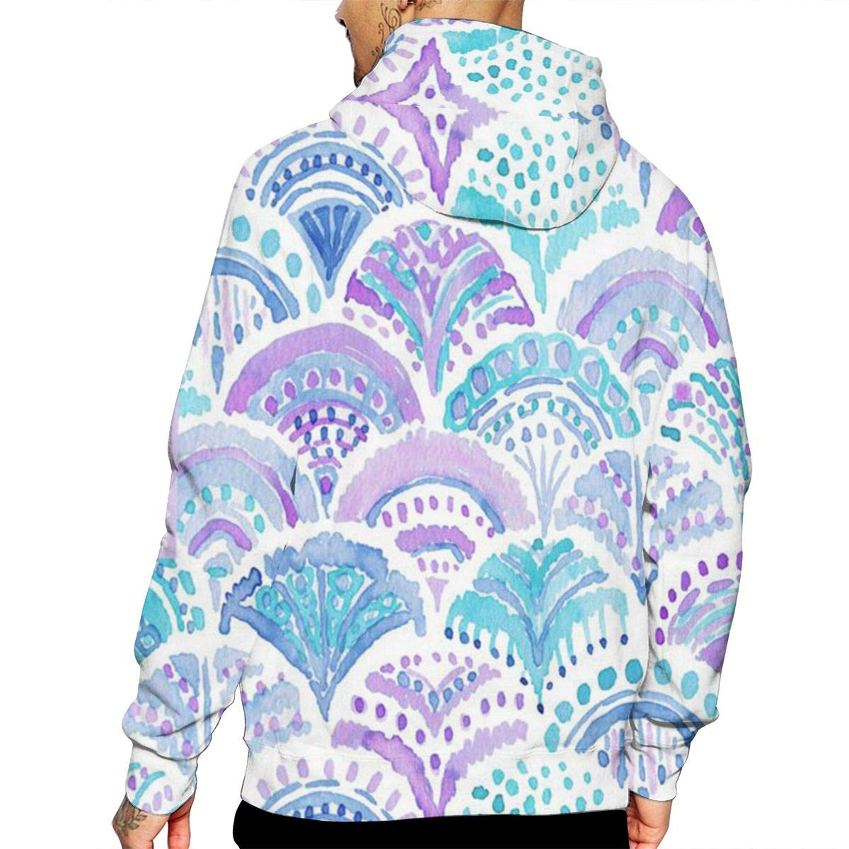 Fishscales Mermaid T-Shirt Hooded with A Pocket Rope Hat Customization Fashion Novelty 3D Mens