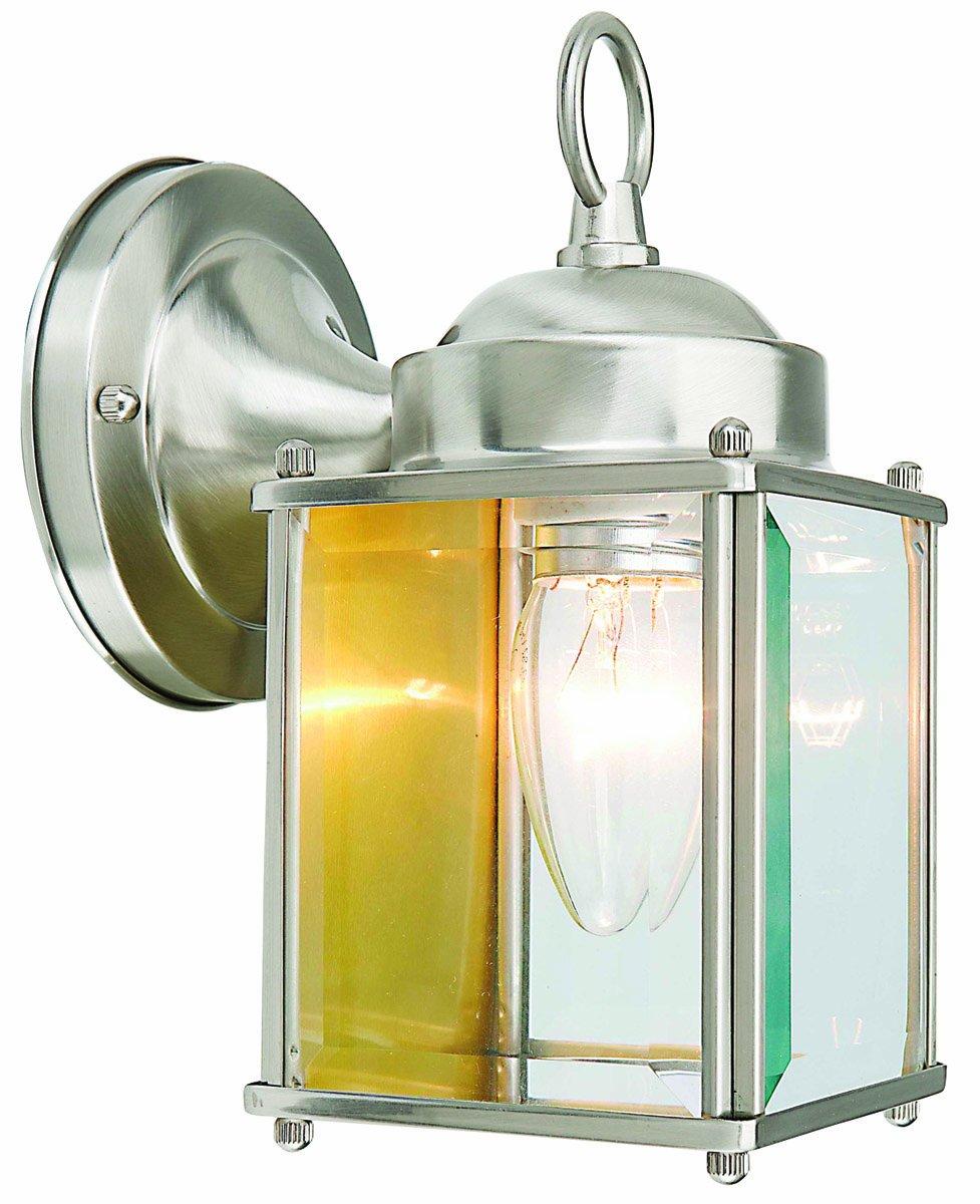 Design House 507863 Coach 1 Light Indoor/Outdoor Wall Light, Satin Nickel