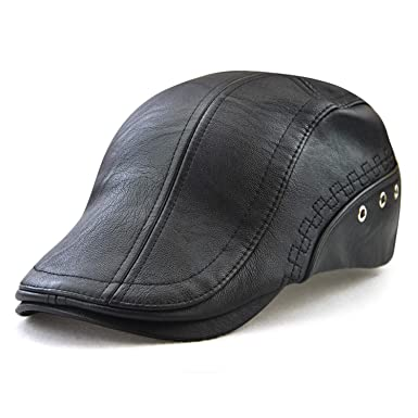 Men s PU Leather Baseball Cap Winter Warm Logo Patched Cap Adjustable  Headwear Sports Cap Trucker Hat ec21d4c15f0e