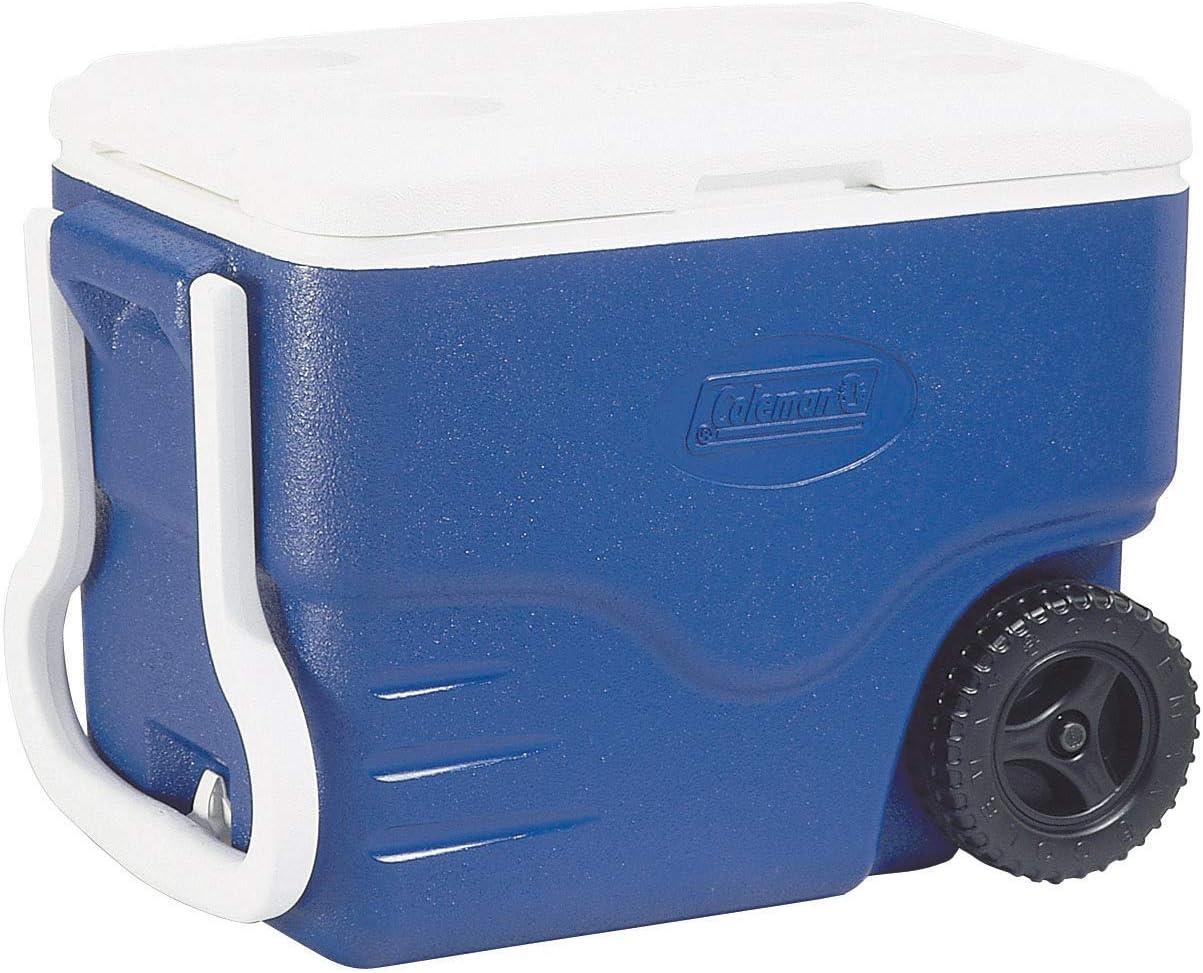 Coleman 40 QT Performance Wheeled Cooler - Nevera con Ruedas, Capacidad de 37.5 litros, Nevera Portatil y Rigida, Porta Alimentos