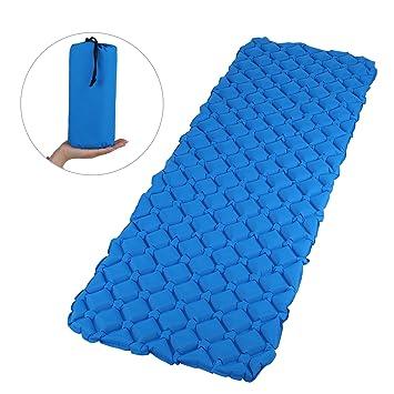 GWHOLE Saco de dormir hinchable ultraligero para exteriores, compacto, a prueba de humedad,
