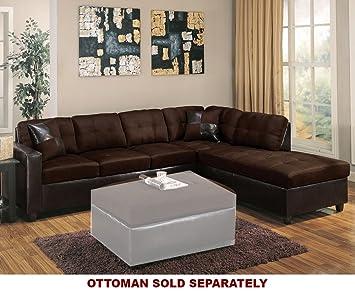 ACME Furniture Milano Leather 2 Piece Sofa Set In Chocolate