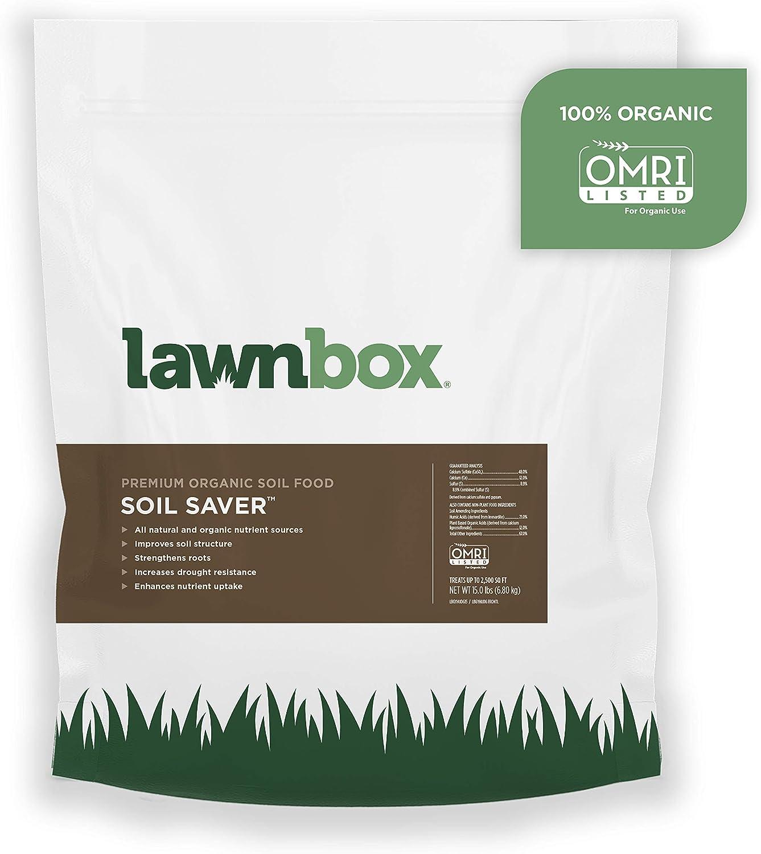 Lawnbox Soil Saver 100% Organic Gypsum and Humic Acid Soil Amendment 15 lb Bag Covers 2,500 sq ft