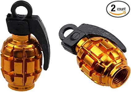 4 Pcs Hand Grenade Design Bicycle Bike Tire Valve Cap Dust Cover Cycling New