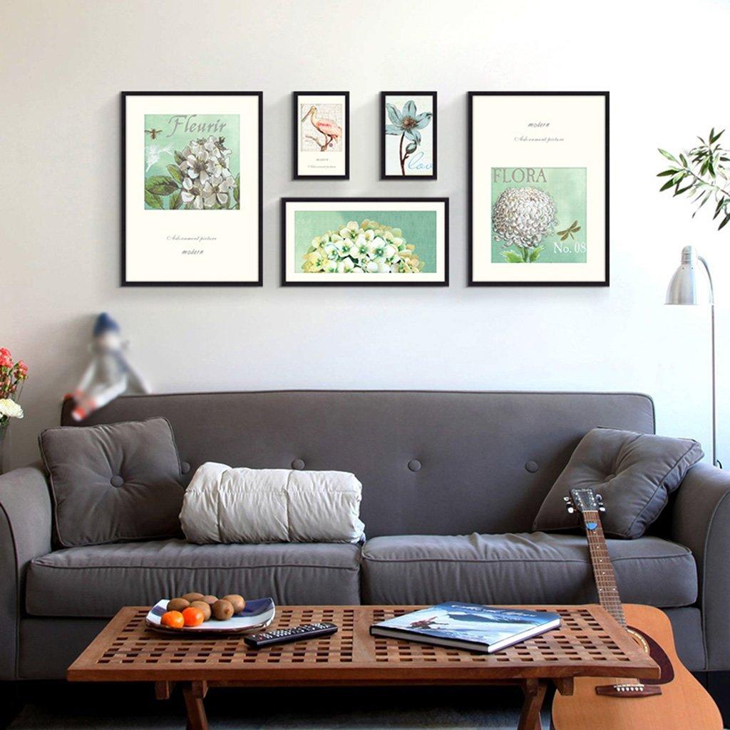 Unbekannt Bilderrahmen-Wand 5 Bilderrahmen-Galerie-Kit Beinhaltet: Rahmen, Wandvorlage, Kunstmalereikern -LI JING SHOP