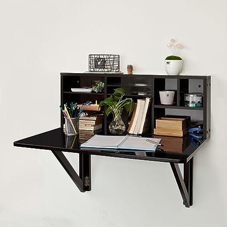SoBuy Mesa plegable de pared con estante integrado, armario, mesa ...