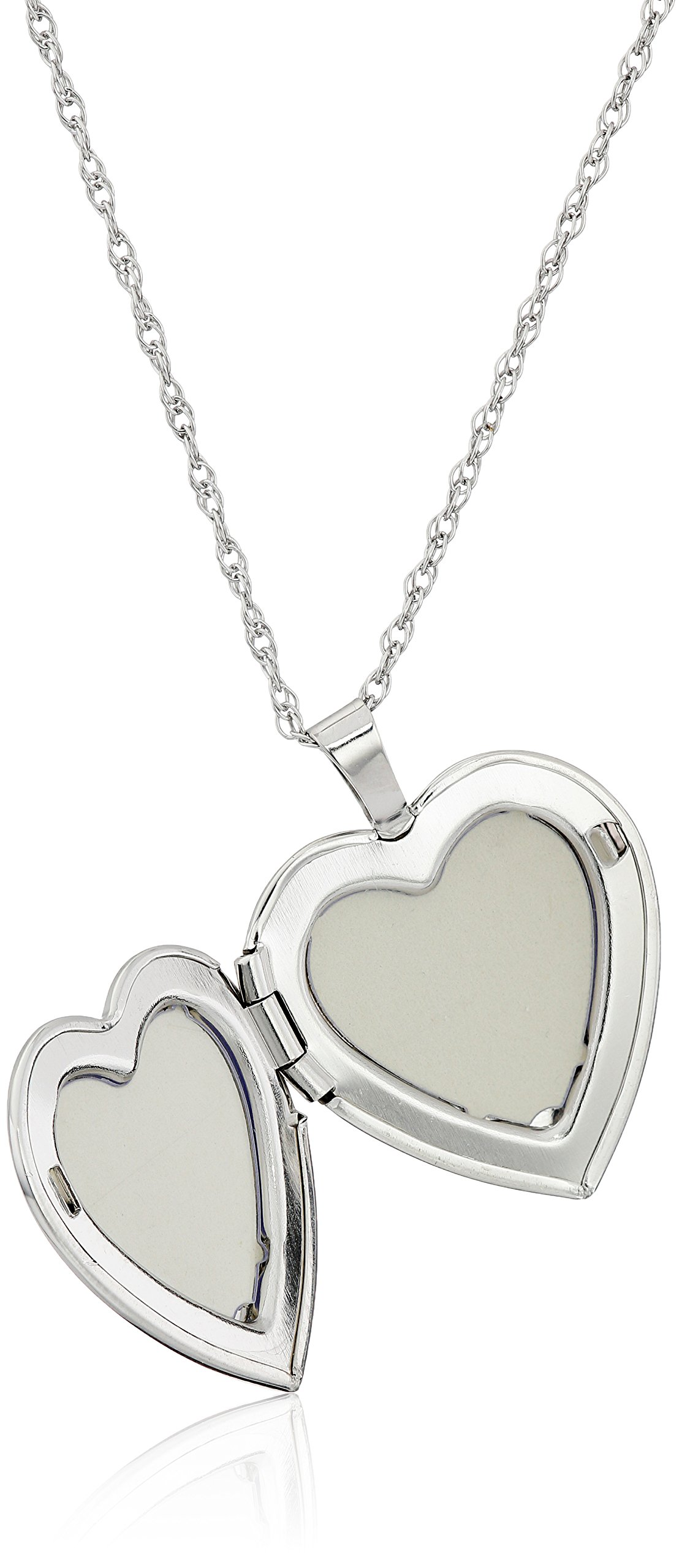 Sterling Silver Heart with Hand Engraved Butterfly Locket Necklace, 18'' by Amazon Collection (Image #2)