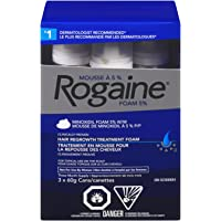 Rogaine Men's Hair Loss & Thinning Treatment, 5% Minoxidil Foam, 3 Month Treatment