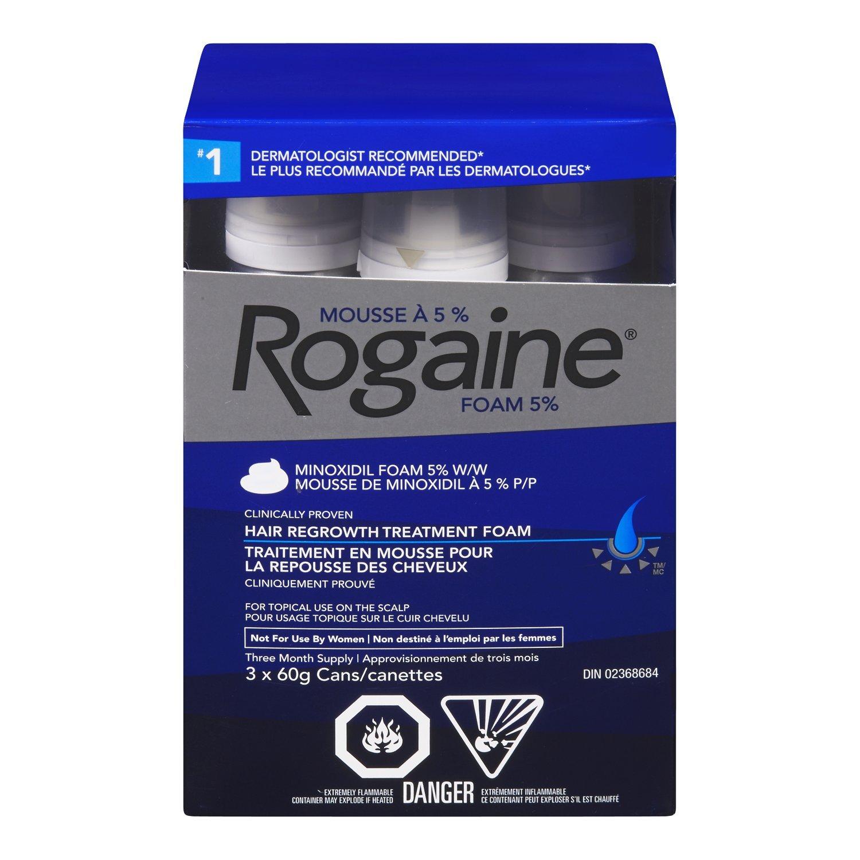 Rogaine Men's Hair Loss & Thinning Treatment, 5% Minoxidil Foam, 3 Month Treatment Johnson & Johnson