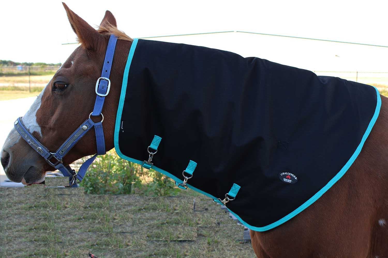 Challenger Large Horse 1200D Waterproof Winter Mane Neck Cover Blanket 52012