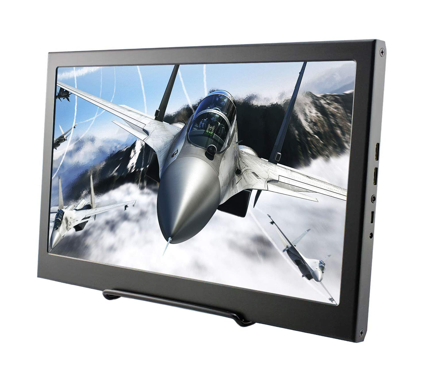 13.3 Inch HDMI Monitor, FHD IPS 1920X1080 16:9 Display VESA Mount Aluminum Housing Screen Game Monitor for PC/PS3/PS4/Xbox/Laptop
