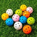 THIODOON Practice Golf Balls Limited Flight Golf Balls 40mm Hollow Plastic Golf Training Balls Colored Airflow Golf…