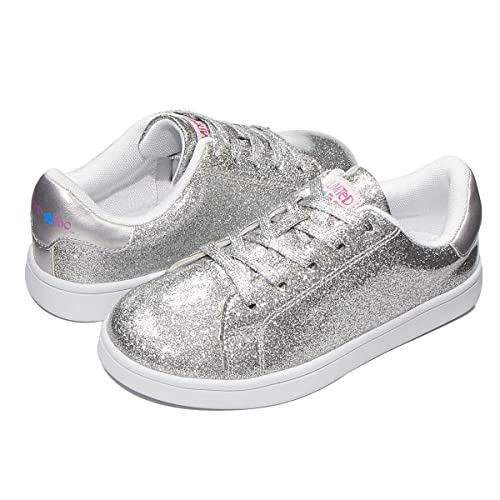 Too Girl Silver Glitter Sneaker Silver
