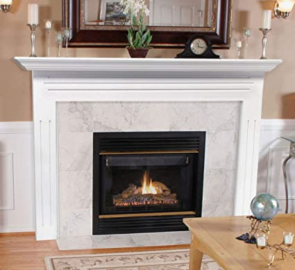 detailed look d031d 92688 Pearl Mantels 510-48 Newport 48-Inch Fireplace Mantel Surround with Medium  Density Fiberboard, White