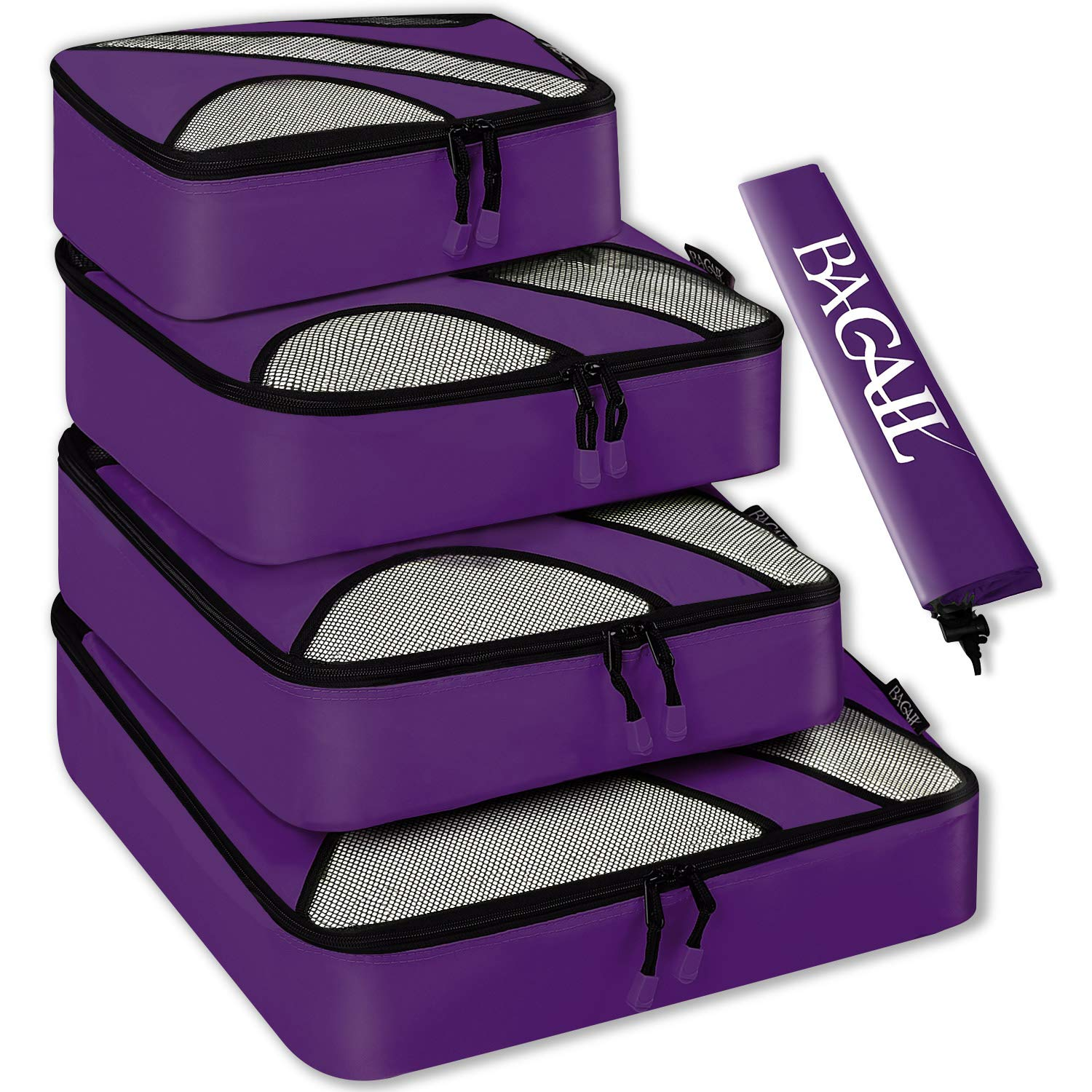 4 Set Packing Cubes,Travel Luggage Packing Organizers with Laundry Bag Purple product image
