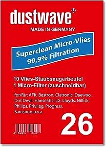 Pack de ahorro – 10 bolsas para aspiradoras Tornado – to 3150 Aspiradora – dustwave® Marca Bolsa para el polvo/Fabricado en Alemania + Incluye Micro de filtro: Amazon.es: Hogar