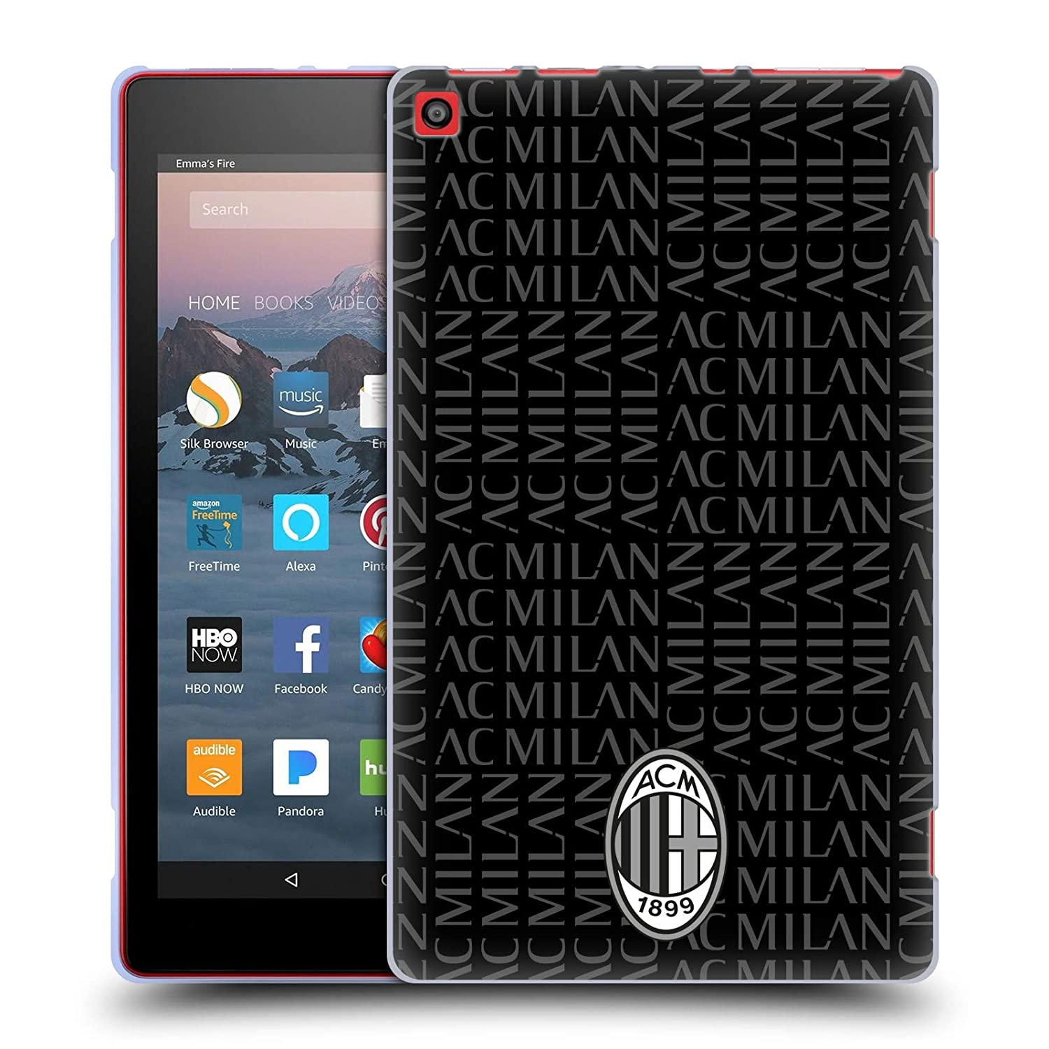 Amazon.com: Official AC Milan Curved 2018/19 Crest Patterns ...