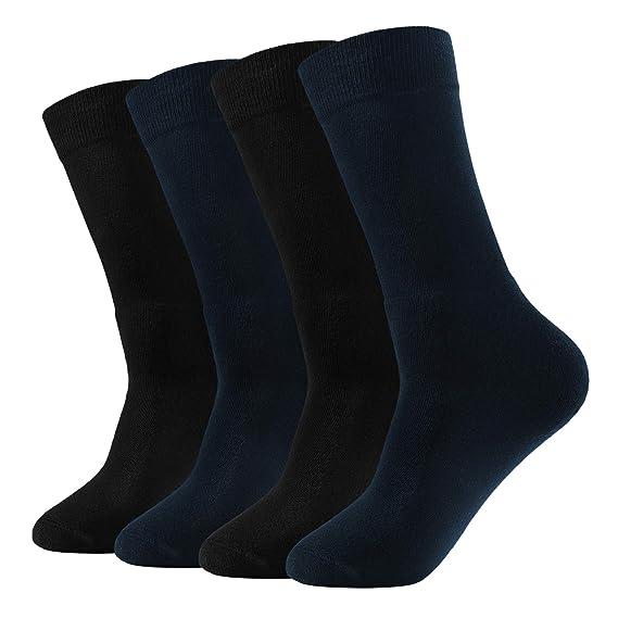Genuwin 4 Pares Calcetines Térmicos de Algodón para Hombre - Calcetines Hombres Acolchados Suaves de Trabajo - Calcetines Deportivos Hombre de Esquí de ...