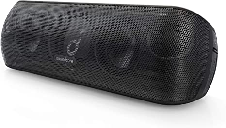 Soundcore Motion+ Bluetooth Speaker, Hi Res 30W Audio, BassUp, Extended Bass and Treble, Wireless HIFI Portable Speaker with App, Customizable EQ,12 H