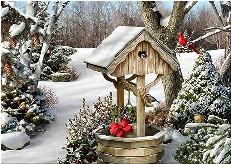 Decorating Santa House 3D Cross Stitch Kit