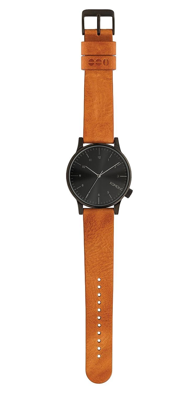 Komono Reloj Analógico de Cuarzo Unisex con Correa de Cuero - KOM-W2253: Amazon.es: Relojes