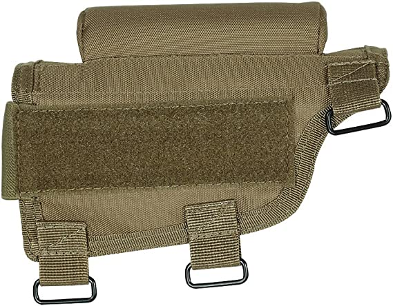 VooDoo Tactical Adjustable Cheek Rest with Ammo Carrier