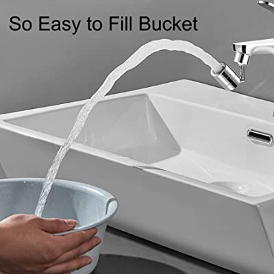 Universal Splash Filter Faucet 720/° Rotatable Faucets Sprayer Swivel Water Saver Kitchen Sink Tap Aerator with 4-Layer Net Filter M22