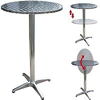 CCLIFE mesa ajustable y plegable barra de aluminio