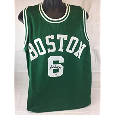 d889813df Signed Bill Russell Jersey - Home coa - PSA DNA Certified - Autographed NBA  Jerseys