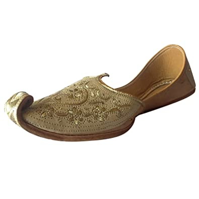 25fe24e0f479 Step n Style Mens Punjabi Jutti Sherwani Shoes Cream Cut Work Zari Khussa  Shoes Beaded Footwear Bridal Slip on