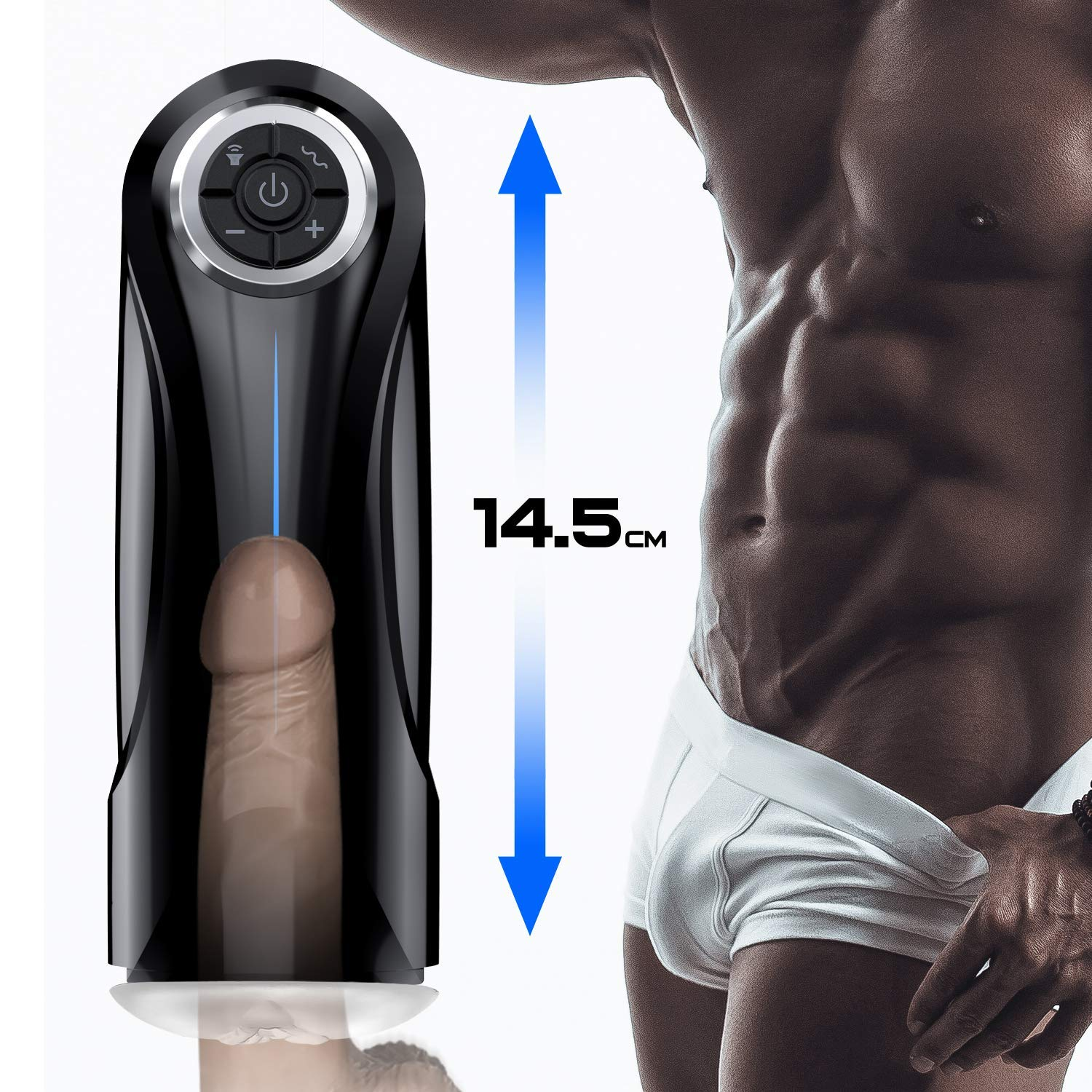 Male Masturbator Cup Electric Adult Sex Toys for Men with 5 Powerful Thrusting Modes and 3D Realistic Vagina Pussy Stroker Masturbation Male Vibrator, 6 Speeds Control 3 Female Sexy Moans by Feelingirl