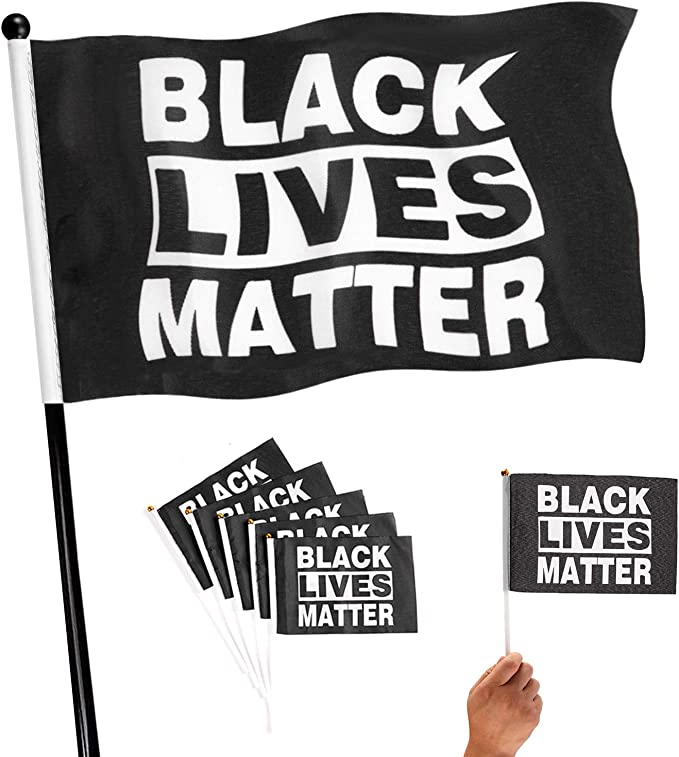 Joysay Flag 2x3 FT Outdoor Banner Black Lives Matter Flag Justice for George Floyed Flag with Brass Grommets Fade Resistant Outside Porch Flag 24x36 Inch Garden House Home Decor