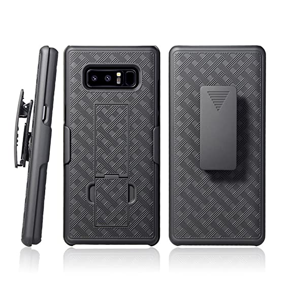 designer fashion a3bd7 e08d3 Galaxy Note 8 Case - CellDealsUSA Holster Shell Combo Swivel Belt Clip  Kickstand Protective Defender Phone Cover For Samsung Galaxy Note8 - Black