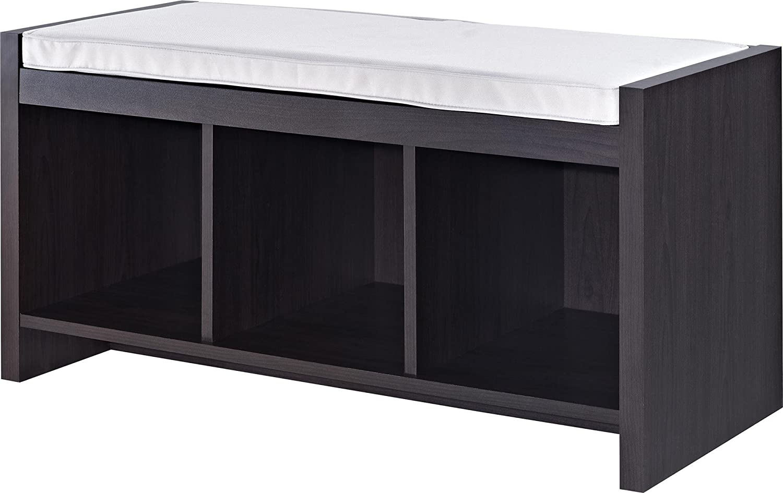 Superb Amazon.com: Altra Penelope Entryway Storage Bench With Cushion, Espresso:  Kitchen U0026 Dining