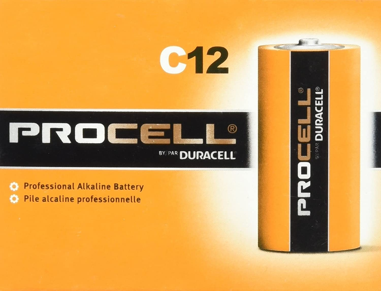 Duracell D12 Procell Professional Alkaline Battery 12Count