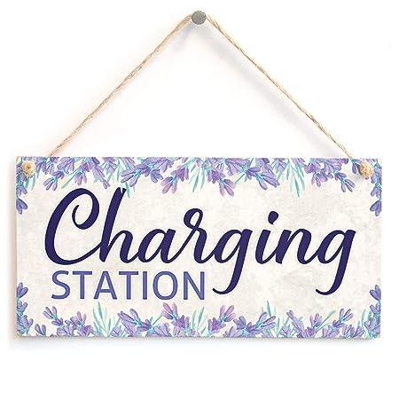 Jiokare Charging Station Jardín Placa Colgante Cobertizo ...